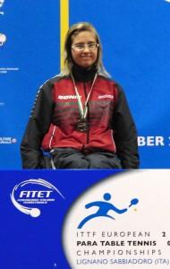 "Vize-Europameisterin ""Sandra Mikolaschek (Borussia Düsseldorf)"