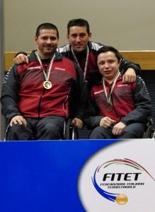 WK5 BronzeTeam v.l.n.r.: S.Cetin, Trainer M.Comparato, V. Baus