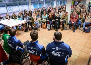 Paralympische Sportler zu Gast an der Marienschule